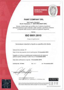 certificazione verniciatura liquido